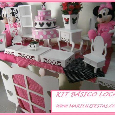 kit básico minnie rosa