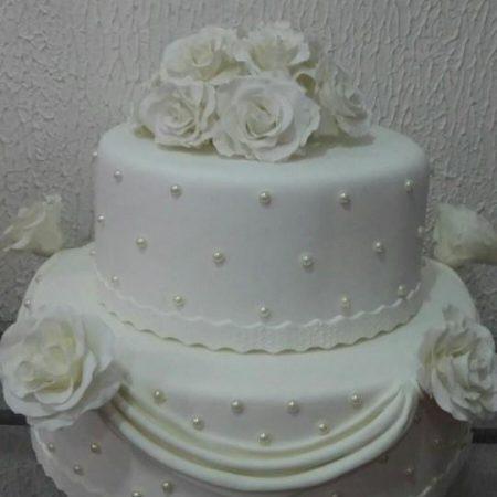 bolo com perola 2 andares