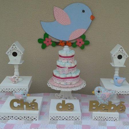 kit chá de bebe passarinhos