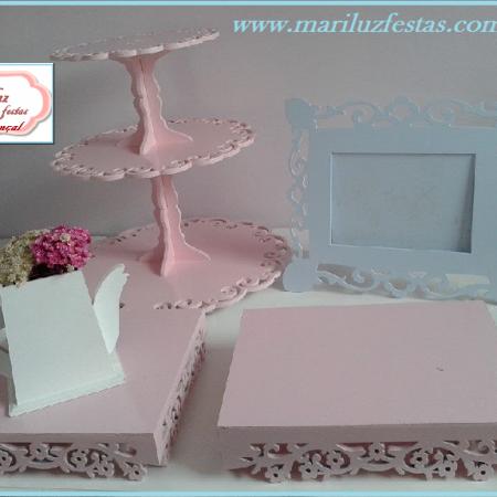kit provençal rosa e azul