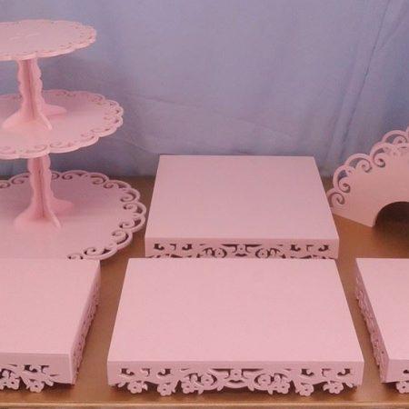 kit rosa floral