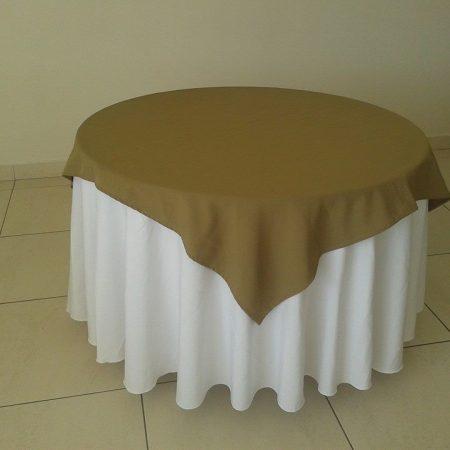 toalha mesa redonda caramelo