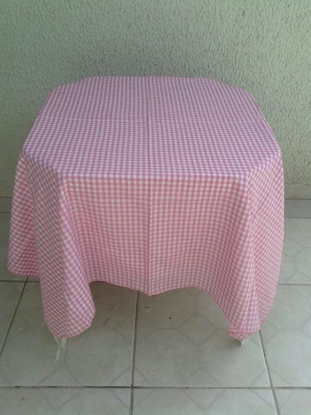 toalha rosa xadres