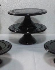 kit preto com vasos 6 peças