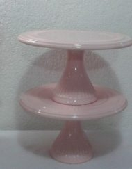 kit rosa reto 4 peças